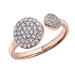 Rose Gold Diamond Pavee Ring