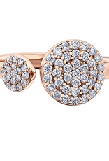 Rose Gold Diamond Pavee Ring