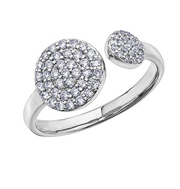 White Gold Diamond Pavee Ring