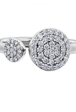 10K White Gold (0.40ct) Diamond Pavee Ring