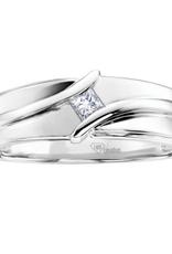 I am Canadian 10K White Gold (0.13ct) Princess Cut Canadian Diamond Men's Ring