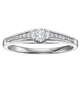 I am Canadian White Gold Canadian Diamond Promise Ring