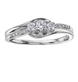I am Canadian 10K White Gold (0.32ct) Canadian Diamond Three Stone Ring