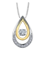 I am Canadian White & Yellow Gold (0.21ct) Canadian Dancing Diamond Pendant