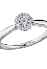I am Canadian 10K White Gold (0.18ct) Canadian Diamond Cluster Ring
