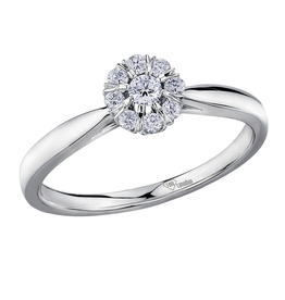 I am Canadian 10K White Gold (0.18ct) Canadian Diamond Halo Ring
