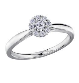 I am Canadian White Gold (0.18ct) Canadian Diamond Halo Ring