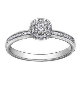 I am Canadian White Gold Halo (0.13ct) Canadian Diamond Engagement Ring