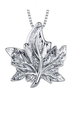 I am Canadian Canadian Diamond Maple Leaf Pendant