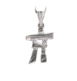 I am Canadian White Gold Inukshuk Canadian Diamond Pendant
