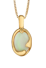 Forever Jewellery 10K Yellow Gold (7x5mm) Opal Pendant