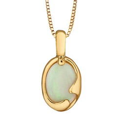 Forever Jewellery Yellow Gold (7x5mm) Opal Pendant