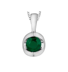 Forever Jewellery White Gold Emerald Pendant