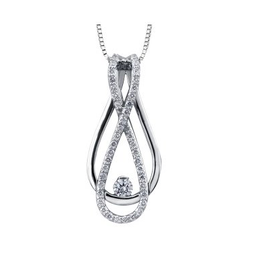 I am Canadian Canadian Diamond Infinity Pendant