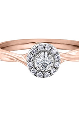 I am Canadian 10K Rose Gold Halo (0.20ct) Canadian Diamond Engagement Ring