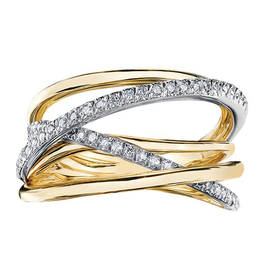 Yellow and White Gold Fancy Diamond Ring (0.27ct)