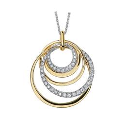 10K Yellow and White Gold Diamond Contemporary Pendant (0.33ct)
