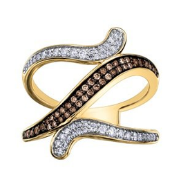 Yellow Gold Natural Brown Diamond Ring