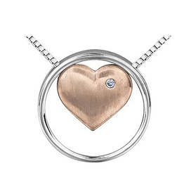 Rose Gold / Sterling Silver Diamond 3 in 1 Pendant