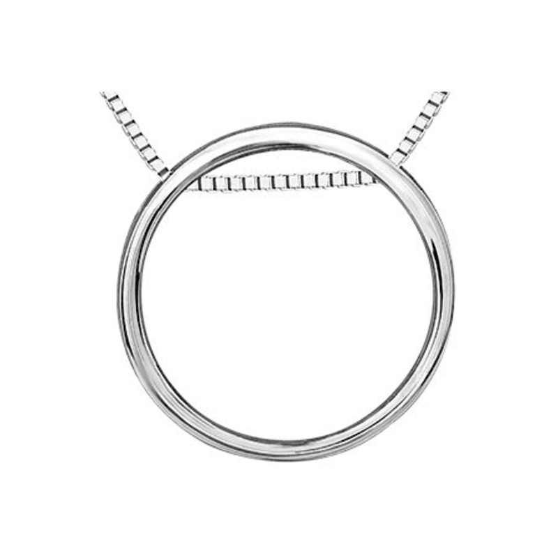Rose Gold and Sterling Silver with (0.01ct) Diamond 3 in 1 Pendant