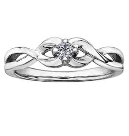 White Gold Infinity Diamond Ring (0.10ct)