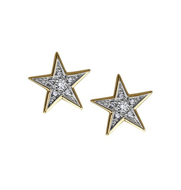 Star Shaped Diamond (0.12ct) Stud Earrings