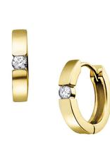 10K Yellow Gold (0.40ct) Diamond Huggie Hoop