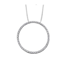 White Gold (0.10ct) Circle of Life Diamond Pendant
