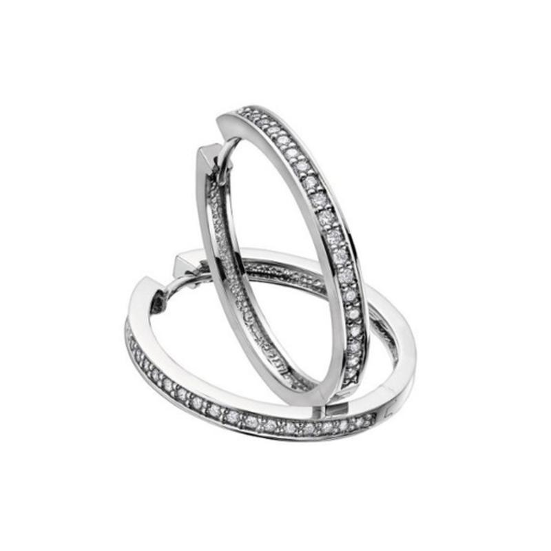 Diamond Hoops (0.33ct) White Gold