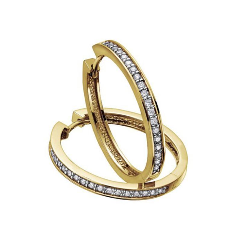 Diamond Hoops (0.33ct) Yellow Gold