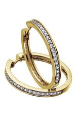 Diamond Hoops (0.50ct) Yellow Gold