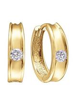 10K Yellow Gold (0.10ct) Diamond Huggie Hoop Earrings