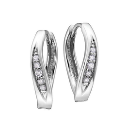Diamond Huggies (0.12ct) 10K White Gold