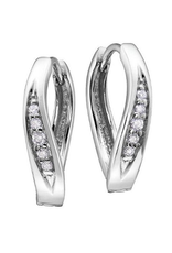 Diamond Huggie Earrings (0.25ct) White Gold