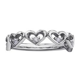 White Gold Diamond Heart Ring (0.12ct)