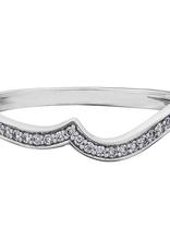 10K White Gold (0.09ct) Diamond Pavee Wedding Band