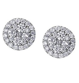 Estoria White Gold (0.66ct) Cluster Diamond Stud Earrings
