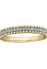 Yellow Gold (0.15ct) Diamond Stackable Band