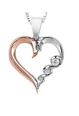 Maple Leaf Diamonds White & Rose Gold (0.08ct) Canadian Diamond Pendant