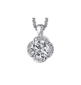 Maple Leaf Diamonds 18K Palladium White Gold Maple Leaf (0.33ct) Canadian Diamond Winds Embrace Pendant