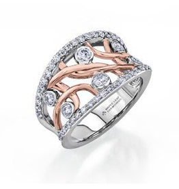 Maple Leaf Diamonds White and Rose Gold Canadian Diamond Right Hand Ring
