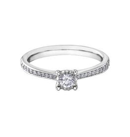 10K White Gold (0.26ct) Diamond Engagement Ring