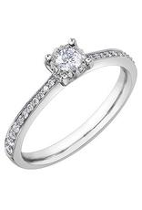 10K White Gold (0.26ct) Diamond Illusion Set Engagement Ring