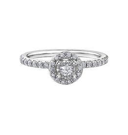 Halo Diamond (0.40ct) White Gold Ring