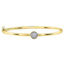 10K Yellow Gold (0.25ct) Cluster Diamond Bracelet
