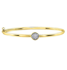 Yellow Gold Cluster Diamond Bracelet (0.25cttw)