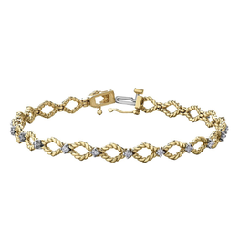 10K Yellow & White Gold (0.42ct) Diamond Bracelet
