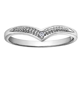 White Gold (0.01ct) Diamond Stackable Band