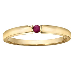 Ruby Stackable 10K Yellow Gold Ring