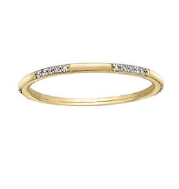 Yellow Gold Stackable Band (0.10ct)
